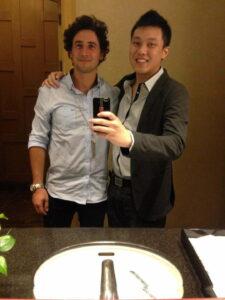 "Selfie with my ""darling""."